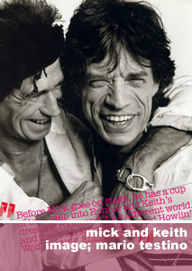 Mick Jagger & Keith Richards. Photo by Mario Testino